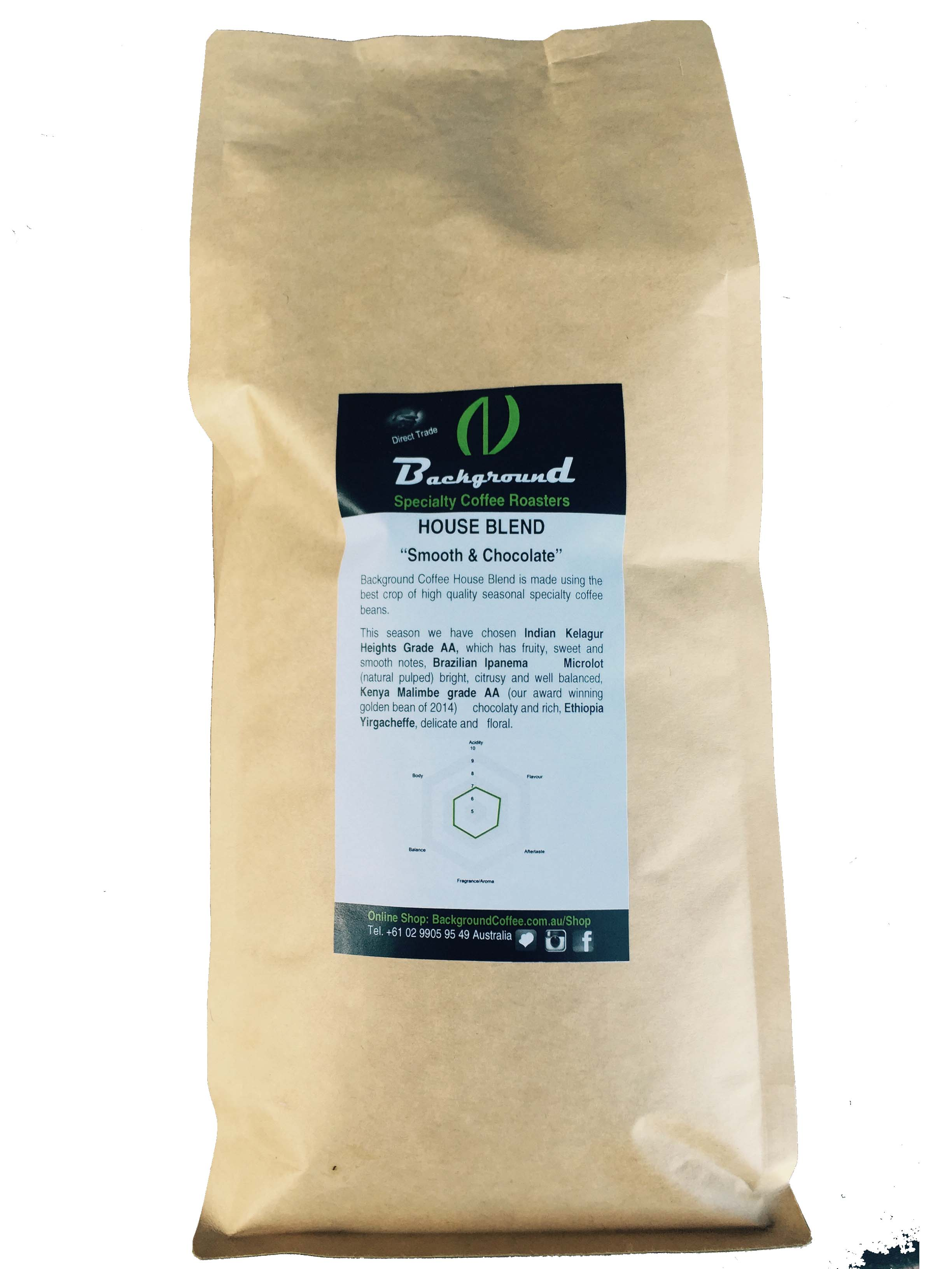 Background Coffee Smooth & Chocolate Household Blend