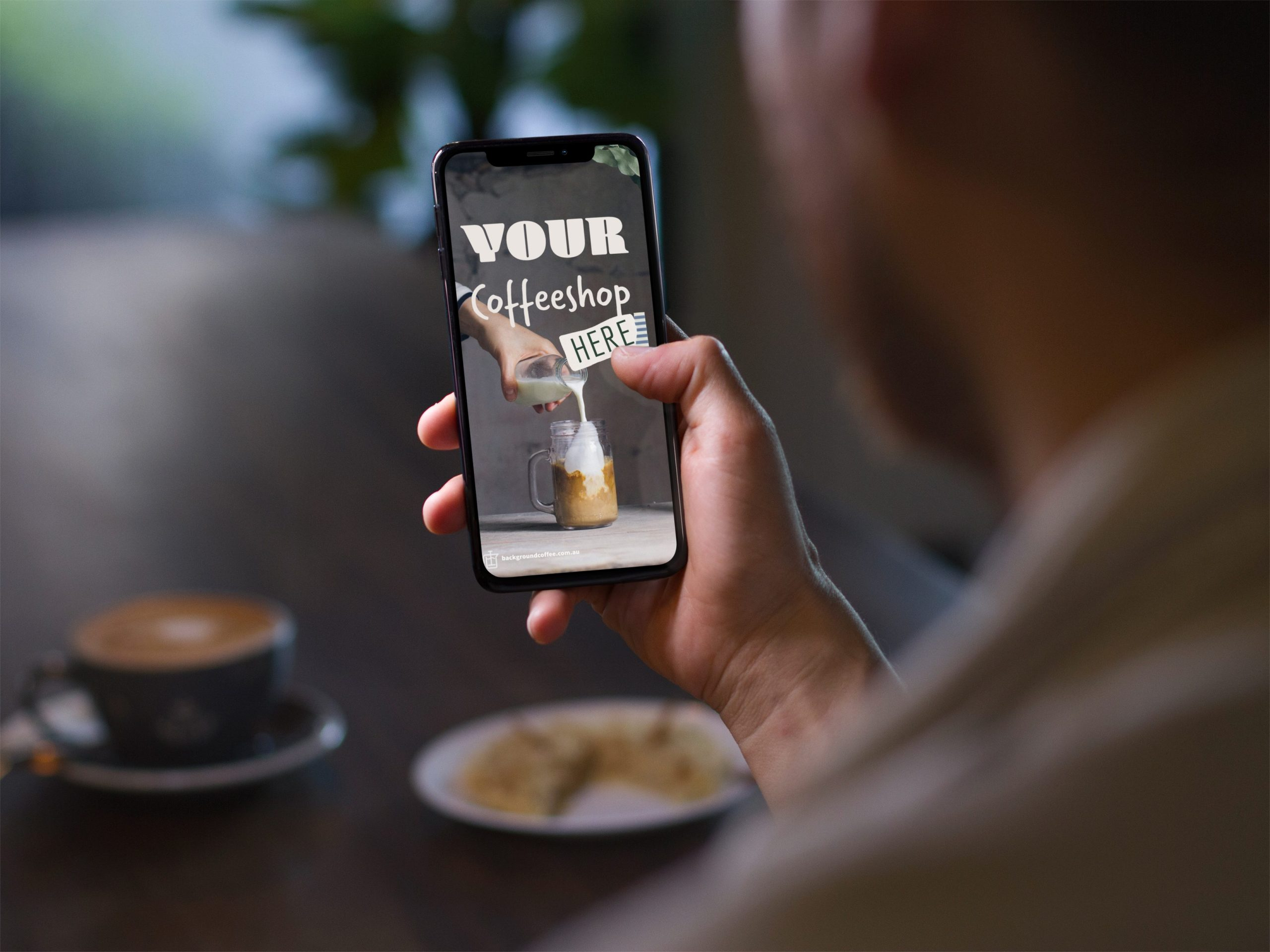 Mobile Showing Cafe Marketing Tools