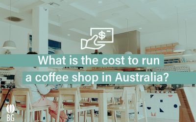 What is the coffee shop running cost in Australia for 2021?